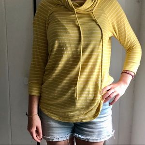 ☀️2/$20 Staccato | Yellow Striped Pullover